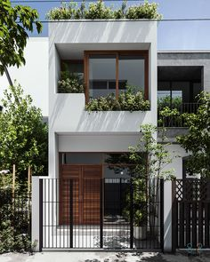 Arch House, Gate House, Facade House, Front Door Design Wood, House Front Design, Concept Architecture, Facade Architecture, Narrow House Designs, Townhouse Designs