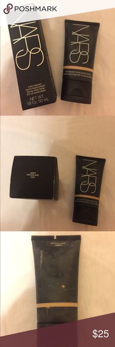 NARS Cosmetics Pure Radiant Tinted Moisturizer Light coverage, color is Groenland (Light 3). Has SPF of 30. Container is practically full. NARS Makeup Foundation