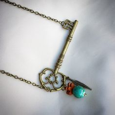 A personal favorite from my Etsy shop https://www.etsy.com/ca/listing/505163433/side-ways-skeleton-key-necklace-with