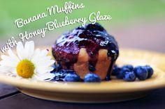Rya Pie: Banana Muffins with Honey-Blueberry Glaze