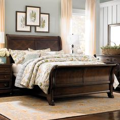 Bedroom Ideas Dark Wood Furniture bedroom decorating ideas dark wood sleigh bed bedroom decoration