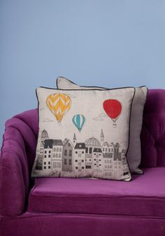 Looking Up Pillow, #ModCloth ... Cute pillow! :)