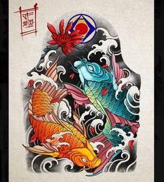 Traditional Japanese Tattoo Sleeve, Japanese Leg Tattoo, Japanese Tattoo Designs, Traditional Tattoo, Koi Tattoo Design, Japan Tattoo Design, Japanese Shop, Japanese Legs, Japanese Style