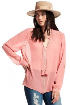 Krish Embellished Silk Blouse | Calypso St. Barth