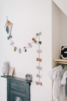Handmade Home Decor 71873 Handmade Kite Made From H&m Cushion Covers Over Victorian Fireplace - Image By Adam Crohill. Pale Grey, Neutral Nursery With Subtle Blush, Blue And Mustard Accents Baby Bedroom, Baby Boy Rooms, Baby Room Decor, Kids Bedroom, Girl Rooms, Baby Room Diy, Rock My Style, Style Uk, Kite Making