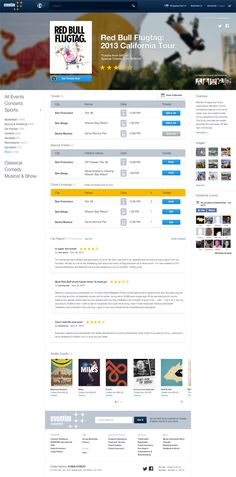 Eventim.de - Events Website on Behance by Dann Petty