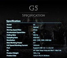G5 Gaming Mouse Optical Pc Mice Wired Laptop Usb Game Led Dpi Adjustable 6 Buttons 2400dpi Gamer Red