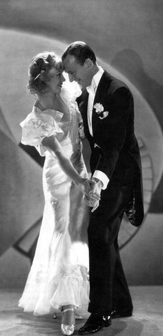 Ginger Rogers as 'Honey Hale' and Fred Astaire as 'Fred Ayres' - 1933 - Flying Down To Rio - Costume design by Walter Plunkett and Irene - Directed by Thornton Freeland - @~Mlle