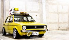 VW Golf. My first love was a bright yellow golf. The Diesel Dub. You never really get over your first love.