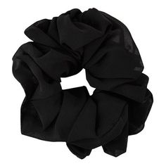 Black Oversize Scrunchie ($4.29) ❤ liked on Polyvore featuring accessories, hair accessories, fillers, hair, black and scrunchie hair accessories