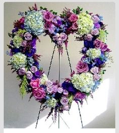 Heart Shaped Sympathy Spray Funeral Heart Wreaths