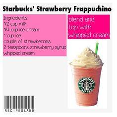 Starbucks recipe! Yummy!