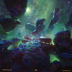 Astroneer Landscape, John Liberto on ArtStation at https://www.artstation.com/artwork/Y88GK: