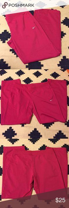 NWOT Nike Warm Up Pants Hot Pink Nike warm up pants. NWOT. 2 pockets. Size Large Nike Pants Track Pants & Joggers