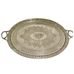 Magnificent & Impressive Antique English Large Sterling Tray