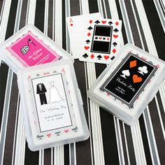 Our Personalised Playing Cards - Such a unique & fun wedding favour idea. Great for company Christmas parties too!