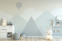 Kids Wallpaper For Child Cartoon Mountain Landscape Wall Mural Soft Hot Air Balloon Wall Print Baby The post Kids Wallpaper For Child Cartoon Mountain Landscape Wall Mural Soft Hot Air Balloon Wall Print Baby appeared first on Babyzimmer ideen. Baby Bedroom, Baby Boy Rooms, Baby Room Decor, Bedroom Boys, Room Baby, Girl Bedrooms, Bedroom Ideas, Kids Wall Murals, Murals For Kids