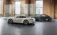 #Porsche #911 50th anniversary edition: The edging of the window areas is in anodised aluminium, as a reminder of the original 911. Learn more: http://link.porsche.com/911-50?pc=50Y911PINGA Combined fuel consumption in accordance with EU 5: 9.5-8.7 l/100 km; CO2-emission: 224-205 g/km