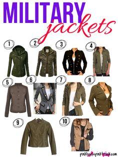 Military Jacket Love || 10 Military Jacket Styles via pinkheelspinktruck.com #womensfashion #militaryjacket #camo #military #green #fashion #style #falljackets