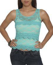 Scalloped Crochet Lace Tank
