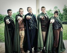 inte svart kanske, men de bruna o gröna var snyggt. Fast helst nått i blått David and Keara's Real Lord of the Rings Wedding
