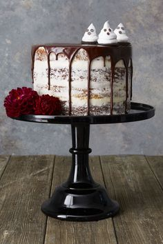 Pumpkin and Devil's Food Layer Cake - GoodHousekeeping.com