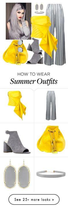Summer Outfits : Yellow Drama by dobesht on Polyvore featuring Jonathan Simkhai Nine West Hum