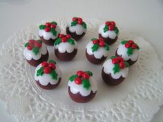 polymer clay christmas cakes | Polymer Clay Christmas Ornament Milestone Cake Topper W Green Tractor ...