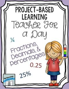 Teacher for the Day - Fractions, Decimals, Percents - FREE