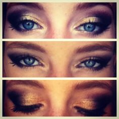 Black and gold makeup done by lilmissmegsmakeup Gold Makeup, Hair Makeup, Black And Gold Eyeshadow, Game Face, Illustration Art, Illustrations, Hair Beauty, How Are You Feeling, Make Up
