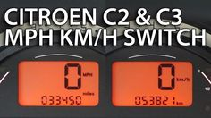 How to change #Citroen #C2 & #C3 units between MPH and km/h (instrument cluster) #cars