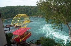 Whirlpool Aero Car, Niagara Falls, Canada.  I went on this when I was young, and am glad I did then... Wouldn't be able to now....
