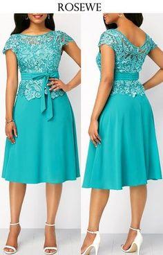 Short African Dresses, Latest African Fashion Dresses, Women's Fashion Dresses, African Print Fashion, Fashion Pants, Dresses Dresses, Lace Dress Styles, Classy Dress, Elegant Dresses