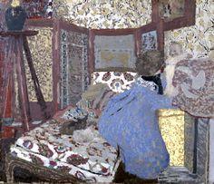 Woman in Blue with a Child, c.1899 (oil on cardboard), Vuillard, Edouard (1868-1940)
