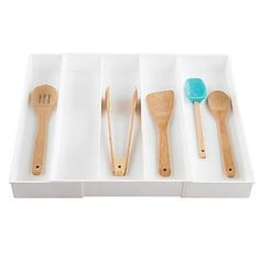 Expand-A-Drawer Utensil Tray White