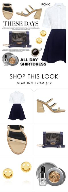 """All Day Shirt Dress!"" by ifchic ❤ liked on Polyvore featuring Paul & Joe Sister, TIBI, Mohzy, Ruifier, Stila and contemporary"
