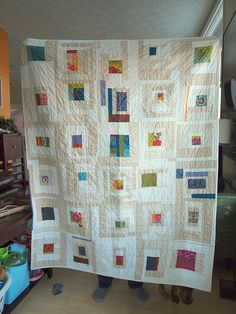 I'm really into quilts that use two neutrals.