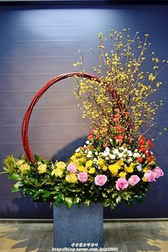 Altar Flowers, Big Flowers, Simple Flowers, Flowers Garden, Large Flower Arrangements, Flora Design, Floral Hoops, Wonderful Flowers, Arte Floral