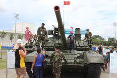 A Nicaraguan Army display in Managua, Nicaragua...T-72B Main Battle Tank...