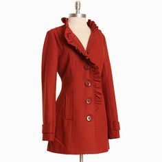 pacific line in sienna peacoat by Tulle