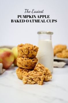 The Easiest Pumpkin Apple Baked Oatmeal Cups // baked oatmeal cups // oatmeal bites for toddlers // kid-friendly oatmeal Baby Food Recipes, Baking Recipes, Dessert Recipes, Breakfast Recipes, Fall Breakfast, Baking Ideas, Brunch Recipes, Breakfast Ideas, Oatmeal Bites