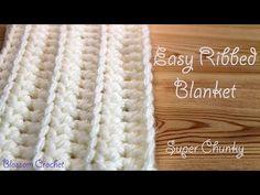 easiest and fastest crochet blanket - YouTube