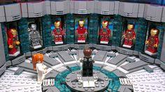 Iron Man Lab Lego Marvel's Avengers, Lego Batman, Brick Projects, Lego Projects, Lego Custom Minifigures, Lego Iron Man, Amazing Lego Creations, Lego Pictures, Thanos Marvel