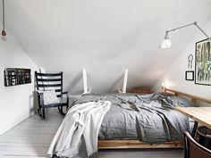 Skandynawskie wnętrza - mieszkanie na poddaszu 1