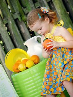 Lemonade Summer  A Boutique Sun Dress for Babies and by pinkmouse, $24.00