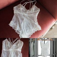 Gorgeous Whie Lace BodySuit Size 8  Please note for hygiene purposes, all undergarments borrowed from the wardobe will require you to wear a nude g sting underneath,  All items and cleaned after every use
