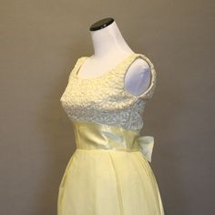 Vintage 1960s Dress Formal Prom Gown Yellow by persnicketyvintage, $112.50