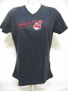 16458ccf89ae7 Nike Womens MLB Cleveland Indians V Neck Baseball Shirt Short Sleeves Medium