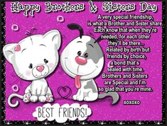 Love Your Sister, Your Brother, Brothers And Sisters Day, Sister Cards, Cute Hug, Sister Day, Online Friends, Blog Sites, Big Hugs