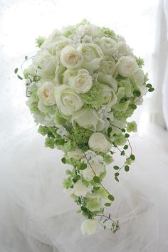 横浜の、セントジェームスクラブ迎賓館様へお届けしたセミキャスケードブーケです。ホワイトスターと呼ばれる、小さな星型の花をいれて、というリクエストでした。お...